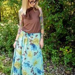 Red Carpet Maxi Skirt