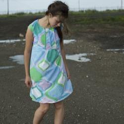 Custom Retro Pleated Dress